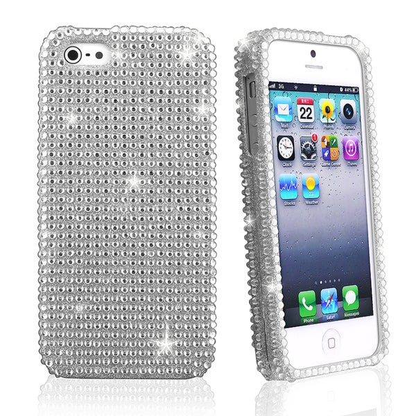 BasAcc Silver Diamond Snap-on Case for Apple iPhone 5