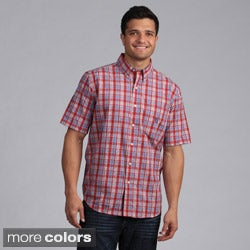 Chaps Men's Plaid Short-sleeve Button Down Shirt