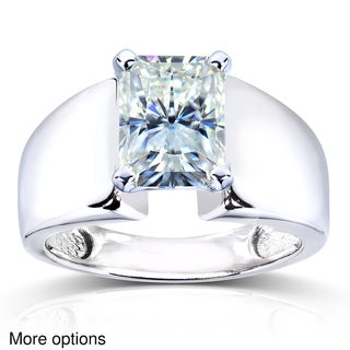 Annello 14k White Gold Radiant-cut Moissanite Solitaire Ring