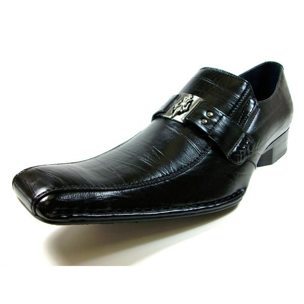 Delli Aldo Men's Slip-on Loafers with Buckle