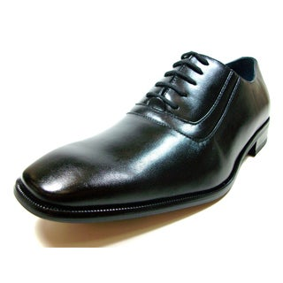 Delli Aldo Men's Rounded Toe Oxfords