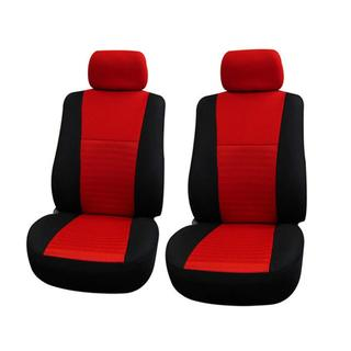 FH Group Red Universal Fit Air Mesh Fabric Front Bucket Seat Covers