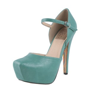Fahrenheit by Beston Women's ?Caroline-02? Ankle Strap Pumps