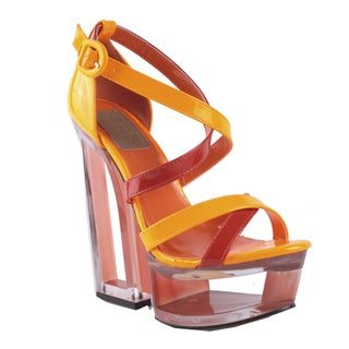 Fahrenheit by Beston Women's 'Olga-03' Platform Strappy Pumps