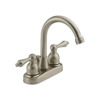 Delta Faucets Peerless 2-handle Centerset Satin Nickel Lavatory Bathroom Faucet