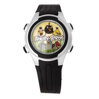 Angry Birds Children's Silver 'Pig-Poppin Action' Watch