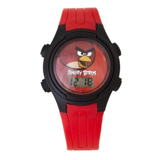 Angry Birds Kids' LCD Red Angry Bird Pig-Poppin Action Watch
