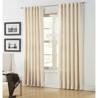 Hampshire Station Lined Natural Linen 88-inch Luxury Curtain Panel