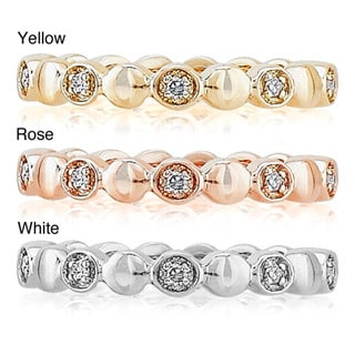 New! 14k Gold Diamond Accent Stackable Band