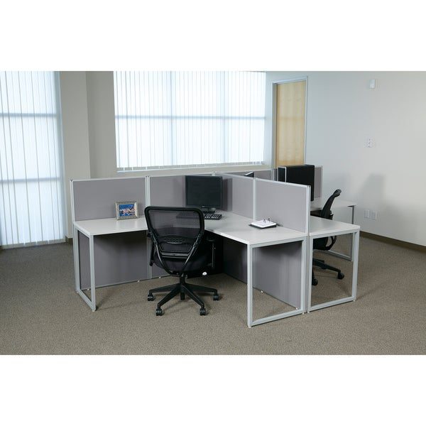 Office Star L-shaped Box Office Configuration