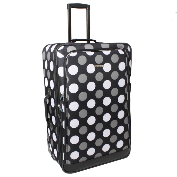 Rockland Black Dot 28-inch Expandable Rolling Upright