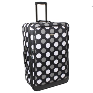 Rockland Black Dot 24-inch Expandable Rolling Upright