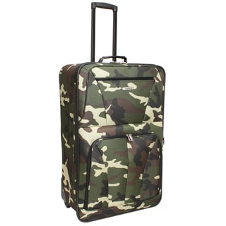 Rockland Deluxe Camouflage 28-inch Expandable Rolling Upright Suitcase
