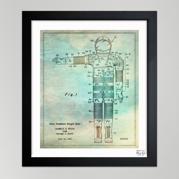 Oliver Gal 'Full Pressure Flight Suit, 1961' Framed Paper Wall Art