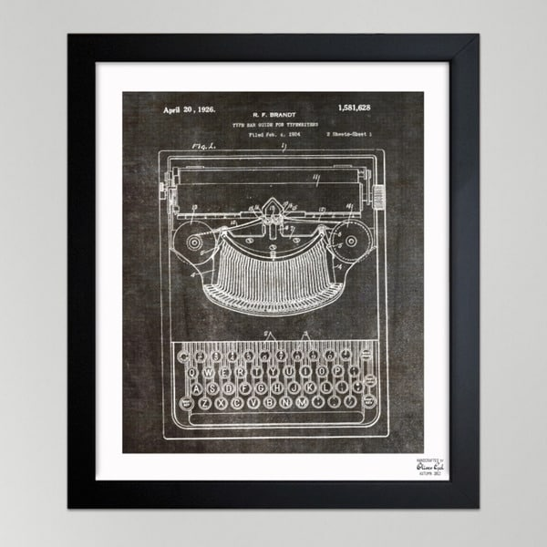 Oliver Gal 'Brandt, Type Bak Guide For Typewriters, 1926' Framed Art Print