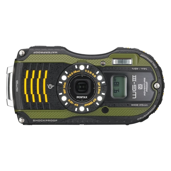 Pentax WG-3 GPS 16 Megapixel Compact Camera - Green