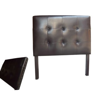 Classic Faux Leather with Nail Head Twin-size Headboard