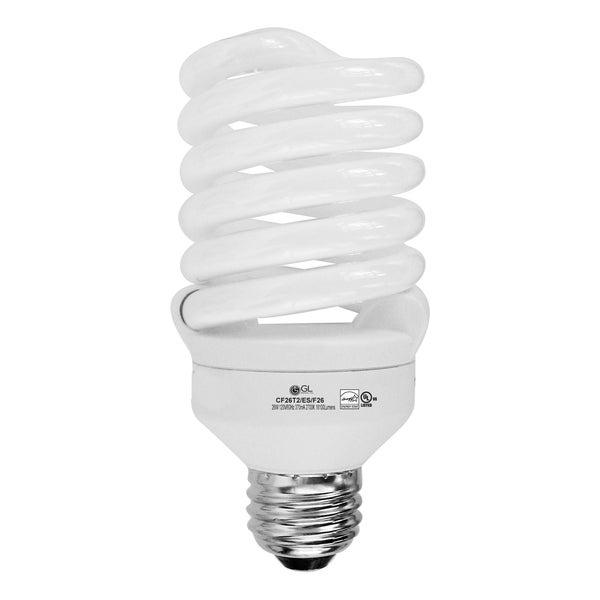 Goodlite 26w CFL 120 Watt Replacement Spiral Warm White 2700K Light Bulbs (25 Pack)