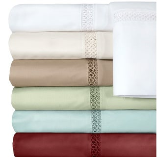 Grand Luxe Egyptian Cotton Payton 500 Thread Count Deep Pocket Sheet Separates or Pillowcase Pair Separates