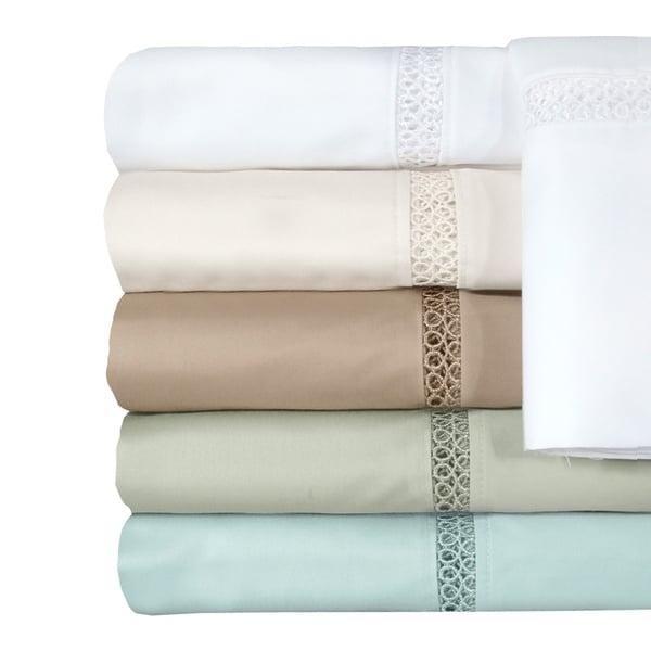Grand Luxe Egyptian Cotton Payton 300 Thread Count Deep Pocket Sheet or Pillowcase Pair Separates