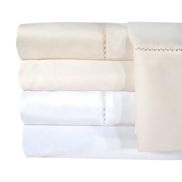 Grand Luxe Egyptian Cotton Bellisimo 1200 Thread Count Sheet Separates or Pillowcase Pair Separates