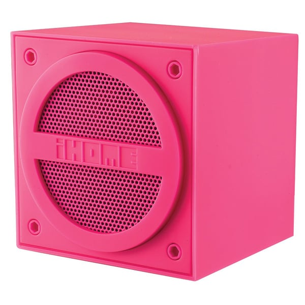 iHome IBT16P Bluetooth Mini Cube Pink