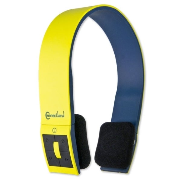 Connectland Yellow Bluetooth v2.1 EDR Wireless Headphone with Microphone