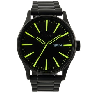Nixon Men's 'Sentry' Black Stainless Steel Watch