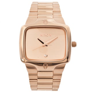 Nixon Men's 'Player' Rose Goldtone Steel Watch