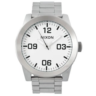 Nixon Men's 'Corporal SS' Black/ White Steel Analog Watch