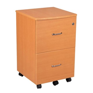 Rolling Two-Drawer Filing Cabinet with Key Lock