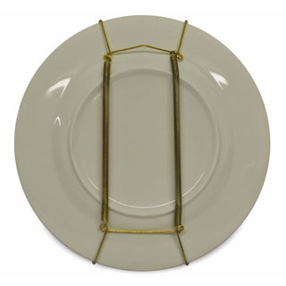 Light Gold Brass Plate Hangers (Set of 12)