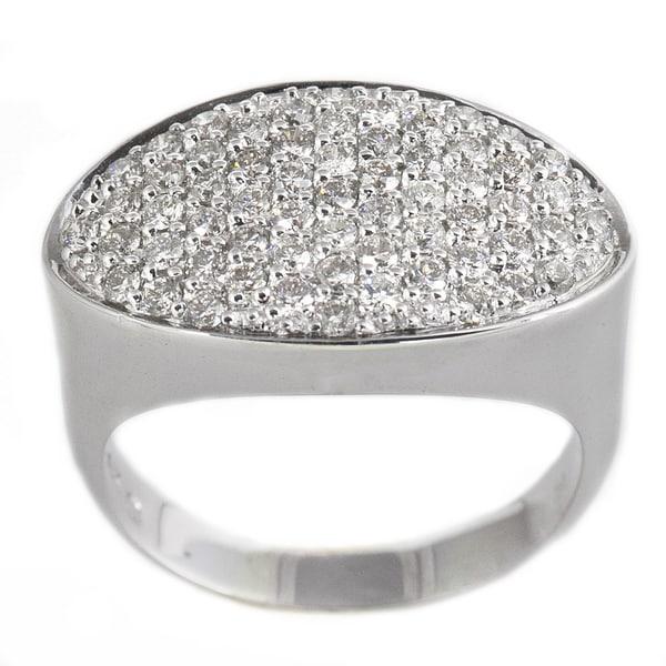 Beverly Hills Charm 14k White Gold 1ct TDW Diamond Pave Ring (H-I, I1)