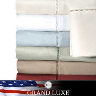 Grand Luxe Cotton Linford 500 TC Deep Pocket Sheet Separates or Pillowcase Separates
