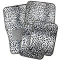 Grey Leopard Style Floor Mats with Rubberized Spiked Padding