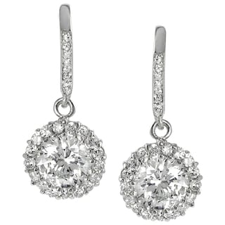 Tressa Collection Sterling Silver Cubic Zirconia Round Earrings