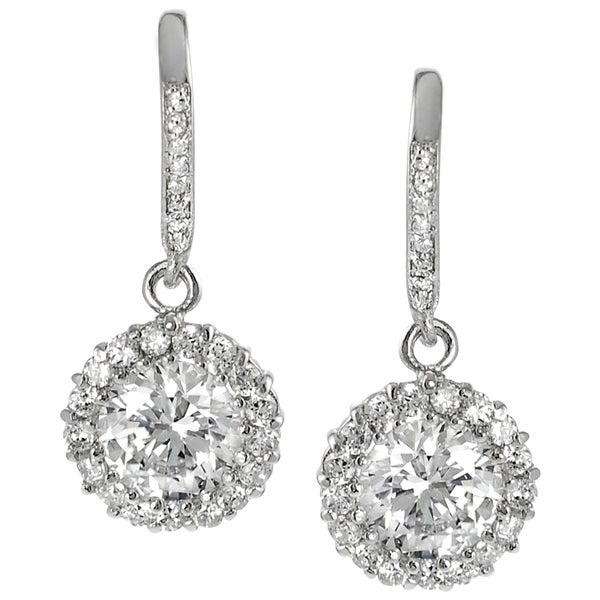 Journee Collection Sterling Silver Cubic Zirconia Round Earrings