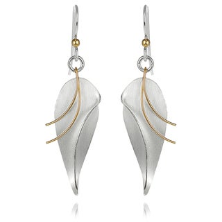 Tressa Collection Sterling Silver Leaf Dangle Earrings