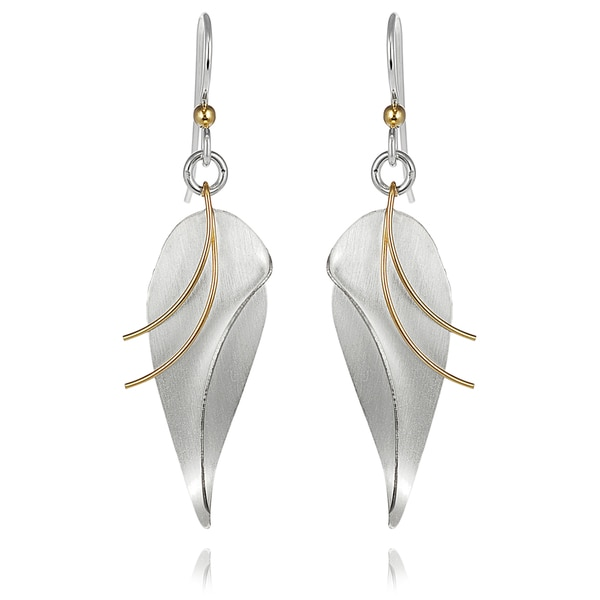 Journee Collection Sterling Silver Leaf Dangle Earrings