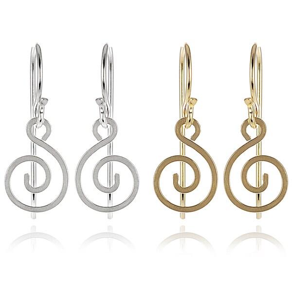 Journee Collection Sterling Silver Swirl Dangle Earrings
