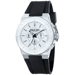 Black Dice Men's Veteran BD-068-02 Black Rubber Silver Dial Quartz Watch