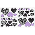 Sweet JoJo Designs Purple and Black Kaylee Wall Decal Stickers
