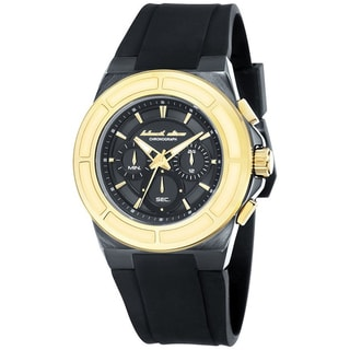 Black Dice Men's Veteran BD-068-04 Black Rubber Black Dial Quartz Watch