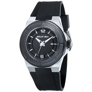 Black Dice Men's Veteran BD-067-03 Black Silicone Black Dial Quartz Watch