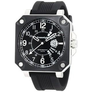 Freestyle Men's 101166 Black Silicone Analog Black Dial Quartz Watch