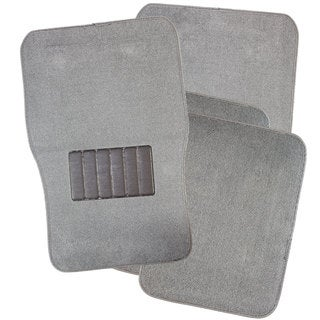 Oxgord Light Grey Four-piece Floor Mat Carpet Rugs