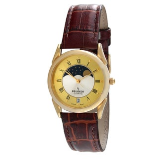 Peugeot Vintage Two-tone Moon Leather Watch