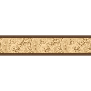 Sweet JoJo Designs Camel and Chocolate Paisley Wall Border