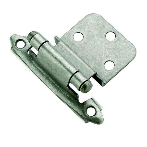 Amerock Weathered Nickel 0.375-inch Offset Face Mount Self Closing Hinges (Set of 10)