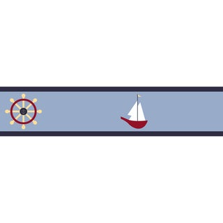 Sweet JoJo Designs Come Sail Away Nautical Wall Border
